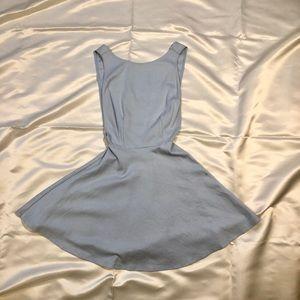 Baby Blue Mini Skater Dress